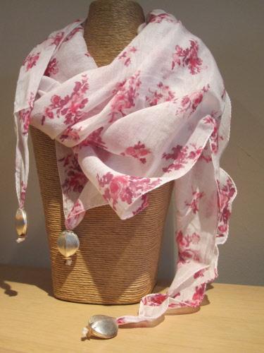 lou lou red white cotton silk scarf White Silk Scarves Australia